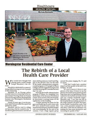 Oswego County Business Magazine - Article on Morningstar