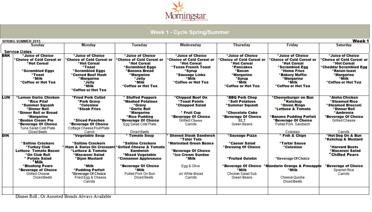 fall menu templates